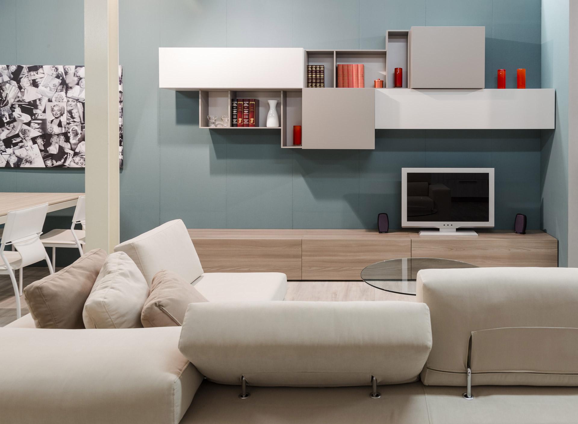 Soggiorni moderni imola pareti attrezzate e mobili ronchi arredamenti - Arredo soggiorni moderni ...