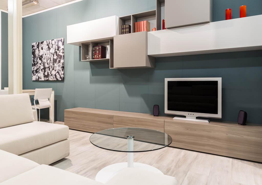 Soggiorni moderni Imola, pareti attrezzate e mobili  Ronchi Arredamenti